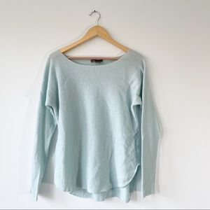 Vince S Light Blue Ribbed Cashmere Sweater Soft